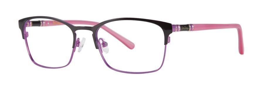 Lilly Pulitzer DAYLIN Black Eyeglasses Size49-17-135.00