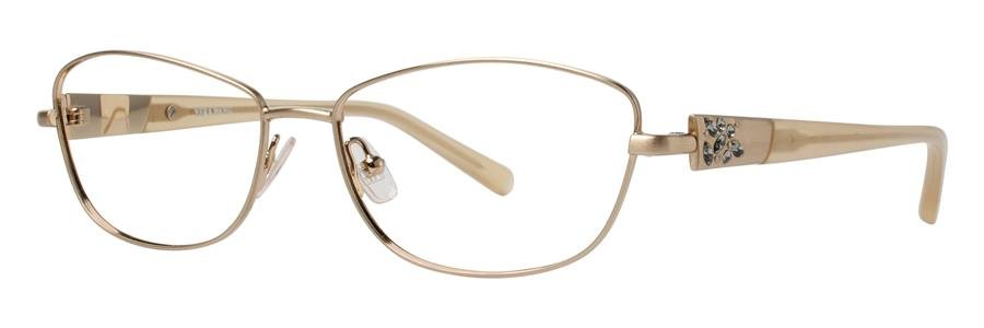 Vera Wang DIAPHANOUS Gold Eyeglasses Size51-15-132.00