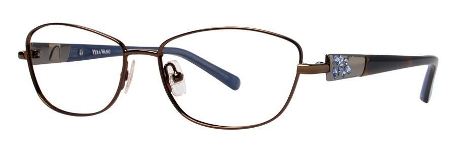 Vera Wang DIAPHANOUS Greige Eyeglasses Size51-15-132.00