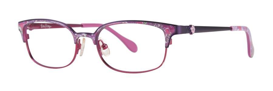 Lilly Pulitzer EFFIE Purple Eyeglasses Size48-16-130.00