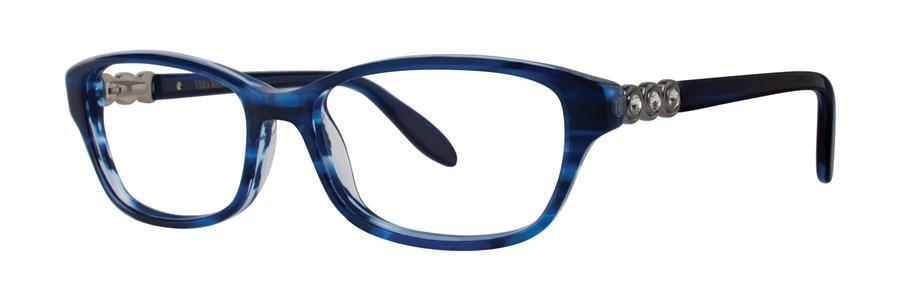 Vera Wang ELGANTINE Navy Eyeglasses Size52-15-133.00
