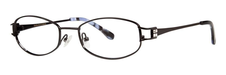 Dana Buchman ESTELLE Black Eyeglasses Size52-18-135.00