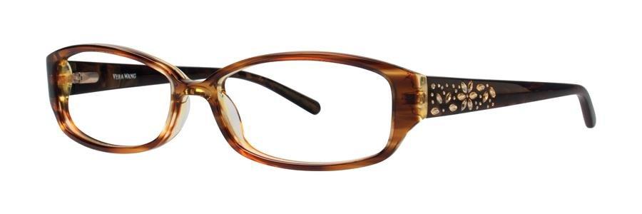 Vera Wang EVADNE Tabac Eyeglasses Size52-15-132.00