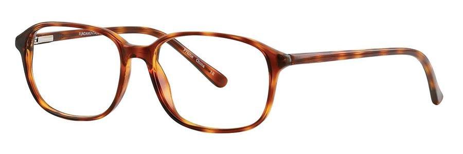 Fundamentals F021 Blonde Tortoise Eyeglasses Size55-17-