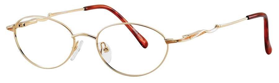 Fundamentals F109 Gold Eyeglasses Size51-18-