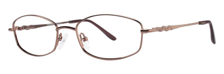 Fundamentals F114 Brown Eyeglasses Size52-18-135.00