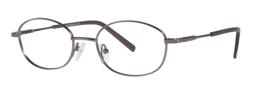 Fundamentals F203 Brown Eyeglasses Size47-18-