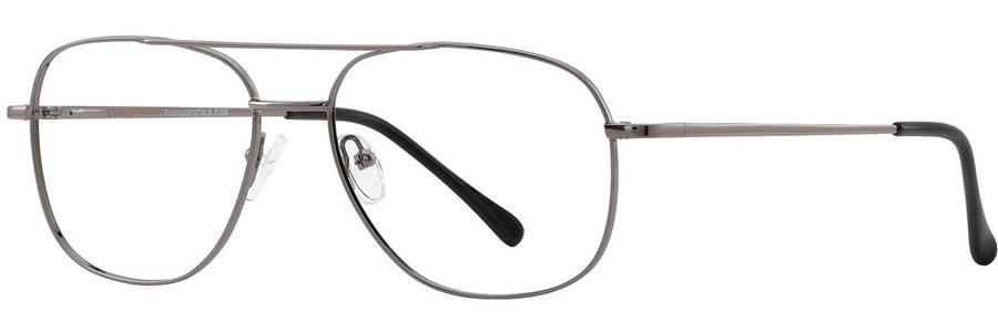 Fundamentals F205 Gunmetal Eyeglasses Size57-17-
