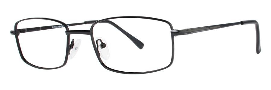 Fundamentals F208 Black Eyeglasses Size55-17-140.00