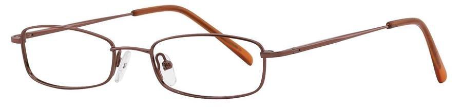 Fundamentals F305 Brown Eyeglasses Size48-17-