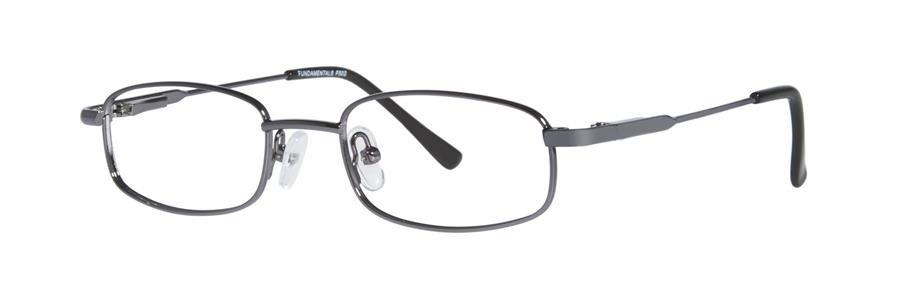 Fundamentals F502 Gunmetal Eyeglasses Size46-17-