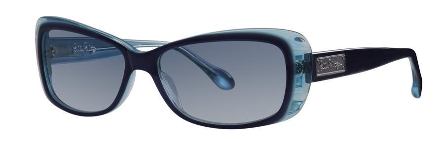 Lilly Pulitzer GABE Navy Sunglasses Size56-15-140.00