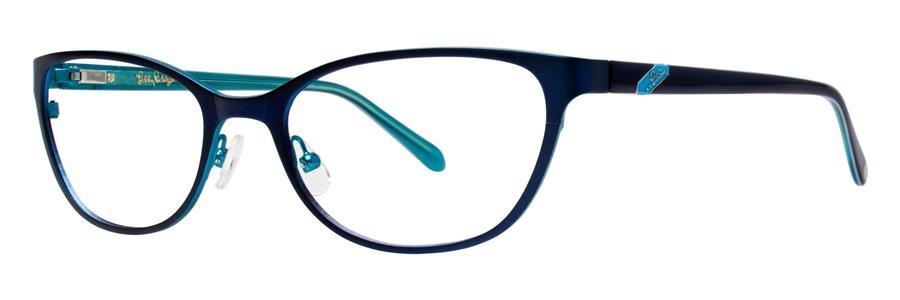 Lilly Pulitzer HAWTHORNE Navy Eyeglasses Size52-18-135.00