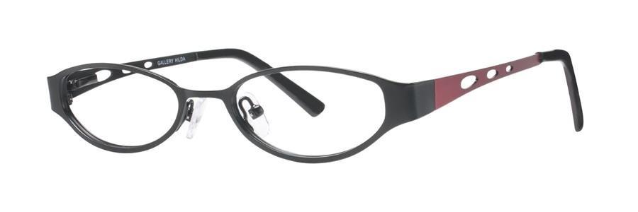 Gallery HILDA Black Eyeglasses Size49-17-135.00