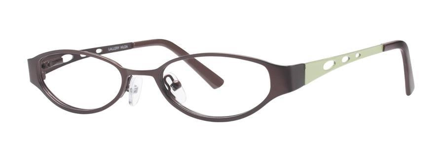 Gallery HILDA Brown Eyeglasses Size47-17-130.00