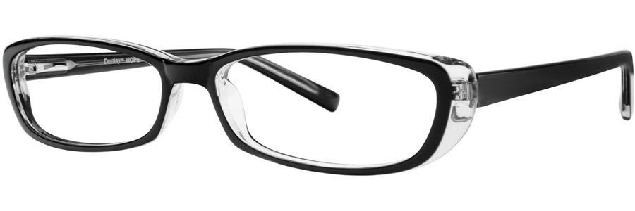 Destiny HOPE Black Crystal Eyeglasses Size52-15-135.00
