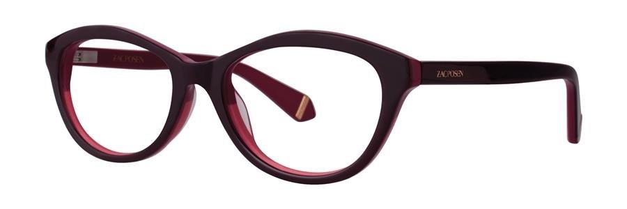 Zac Posen IRENE Berry Eyeglasses Size50-17-130.00
