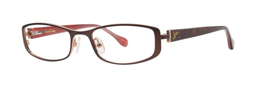 Lilly Pulitzer KRISSA Brown Eyeglasses Size49-17-130.00