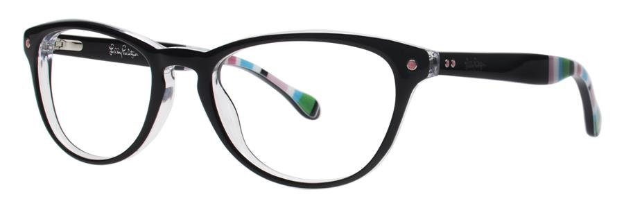 Lilly Pulitzer LANEY Black Eyeglasses Size49-18-135.00