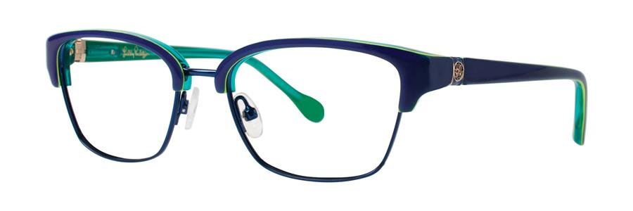 Lilly Pulitzer LEXINGTON Navy Eyeglasses Size49-16-130.00