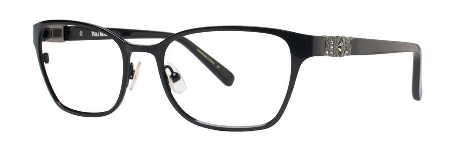 Vera Wang LILOU Satin Black Sunglasses Size50-17-132.00