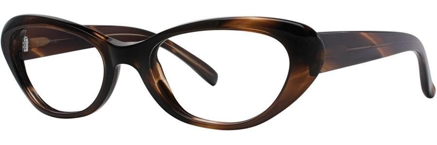 Vera Wang LINETTE Demi Horn Eyeglasses Size52--135.00