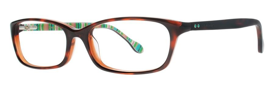 Lilly Pulitzer LINNEY Tortoise Topaz Eyeglasses Size52-16-135.00