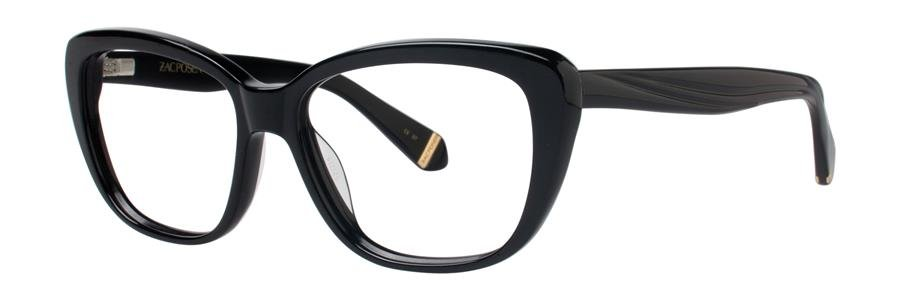 Zac Posen LORETTA Black Eyeglasses Size52-15-130.00