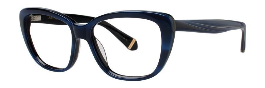 Zac Posen LORETTA Blue Horn Eyeglasses Size52-15-130.00