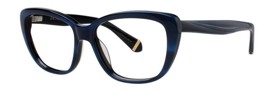 Zac Posen LORETTA Blue Horn Eyeglasses Size54-15-135.00
