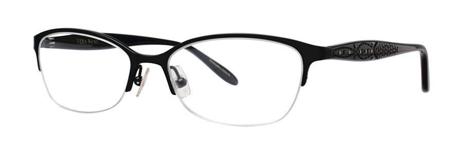 Vera Wang MARCELINE Black Eyeglasses Size51-16-135.00