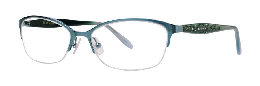 Vera Wang MARCELINE Teal Eyeglasses Size53-16-140.00