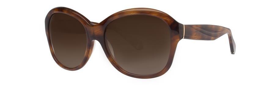 Zac Posen MARLENE Brown Horn Sunglasses Size57-17-135.00