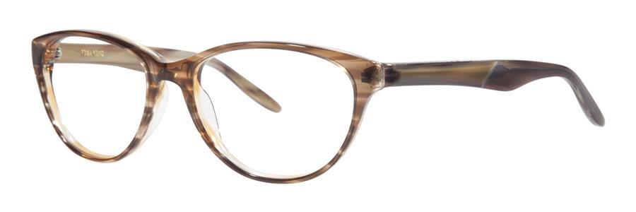 Vera Wang MAURELLE Nude Horn Eyeglasses Size54-17-135.00