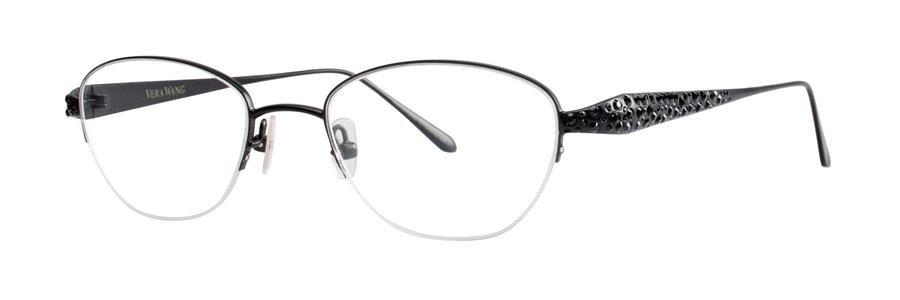 Vera Wang MELITA Black Eyeglasses Size49-18-133.00