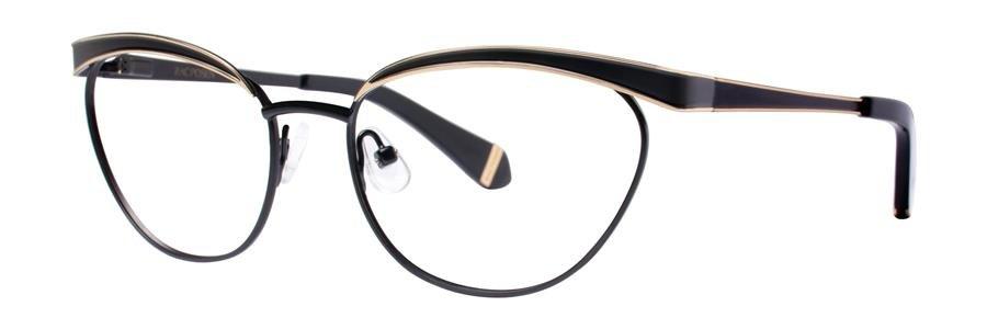 Zac Posen MOYRA Black Eyeglasses Size53-16-135.00