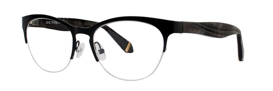 Zac Posen OLGA Black Eyeglasses Size53-17-135.00