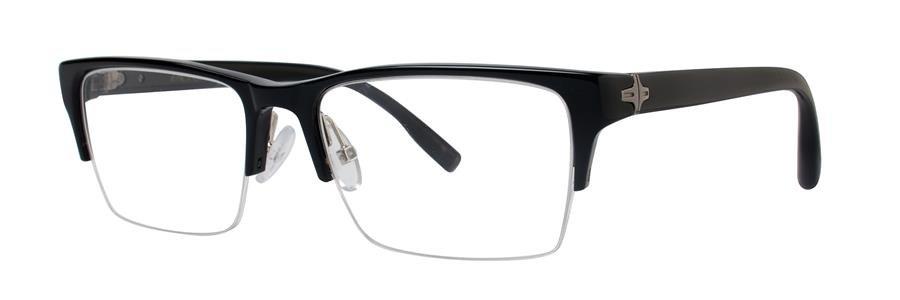 Zac Posen PROFESSOR Black Eyeglasses Size53-17-140.00