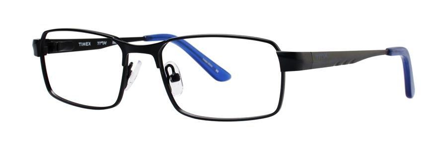 Timex RAKE Black Eyeglasses Size49-15-130.00