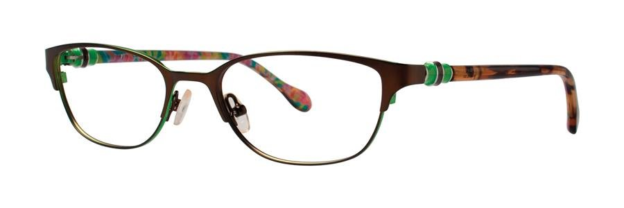 Lilly Pulitzer REMMY Brown Eyeglasses Size52-17-135.00