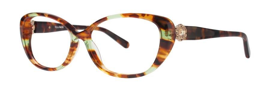 Vera Wang SESKA Green Tortoise Eyeglasses Size52-14-133.00