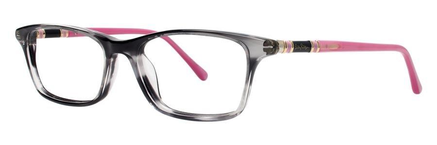 Lilly Pulitzer THEA Black Eyeglasses Size50-17-135.00