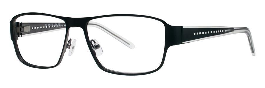 Jhane Barnes TRANSVERSAL Black Eyeglasses Size55-15-135.00