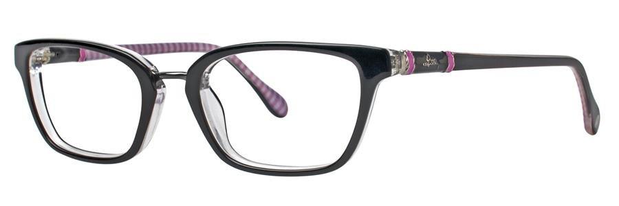 Lilly Pulitzer TRURO Black Crystal Eyeglasses Size47-18-135.00
