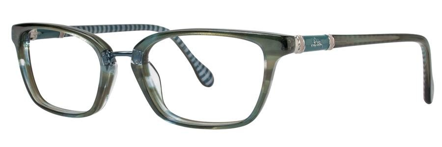 Lilly Pulitzer TRURO Teal Havana Eyeglasses Size49-18-135.00