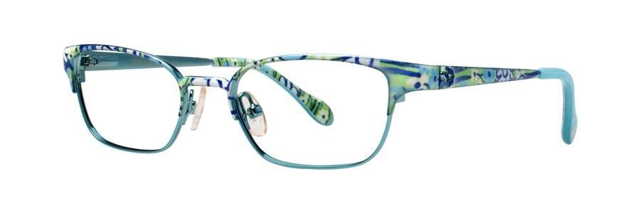 Lilly Pulitzer TULLY Aqua Eyeglasses Size47-16-125.00