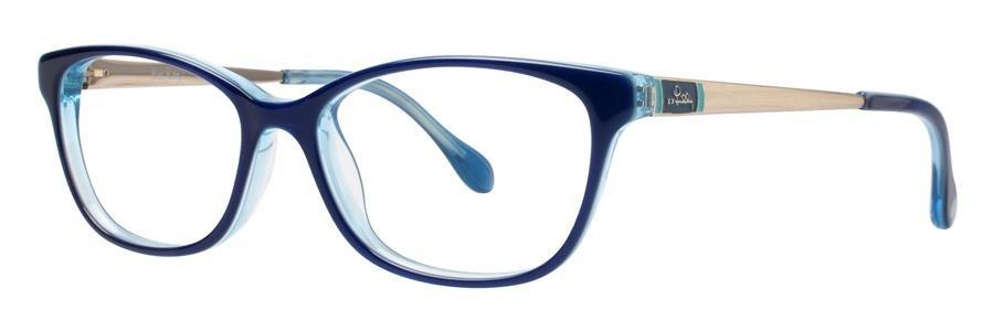Lilly Pulitzer WAKELY Navy Crystal Eyeglasses Size51-15-135.00
