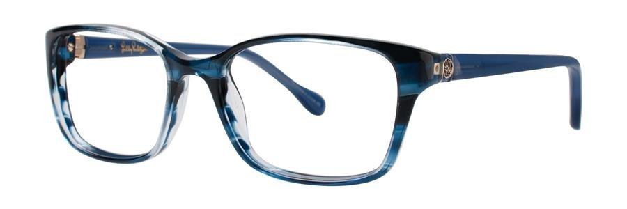 Lilly Pulitzer WESTLEY Navy Havana Eyeglasses Size49-16-135.00
