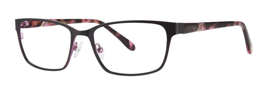 Lilly Pulitzer YARDLEY Black Eyeglasses Size50-17-135.00
