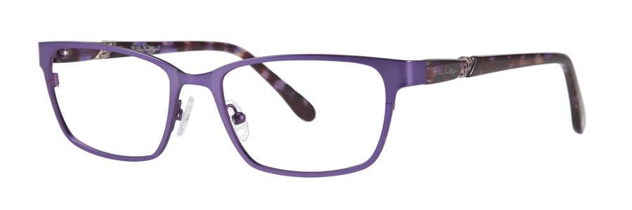 Lilly Pulitzer YARDLEY Eggplant Eyeglasses Size50-17-135.00